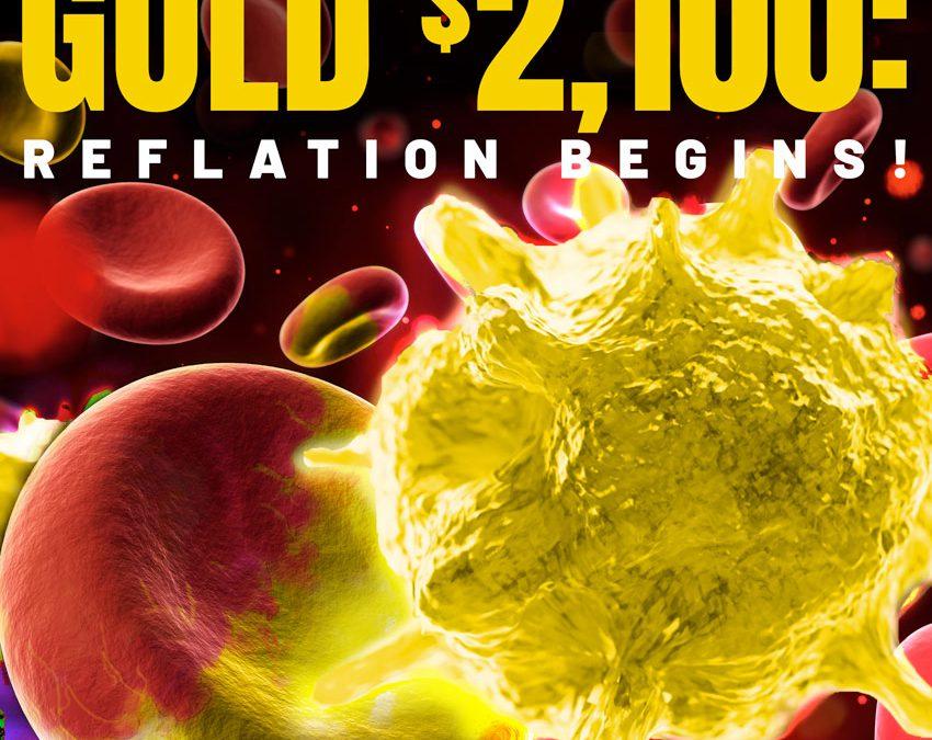 GREEN SCREENS – GOLD $2,100 — REFLATION BEGINS!